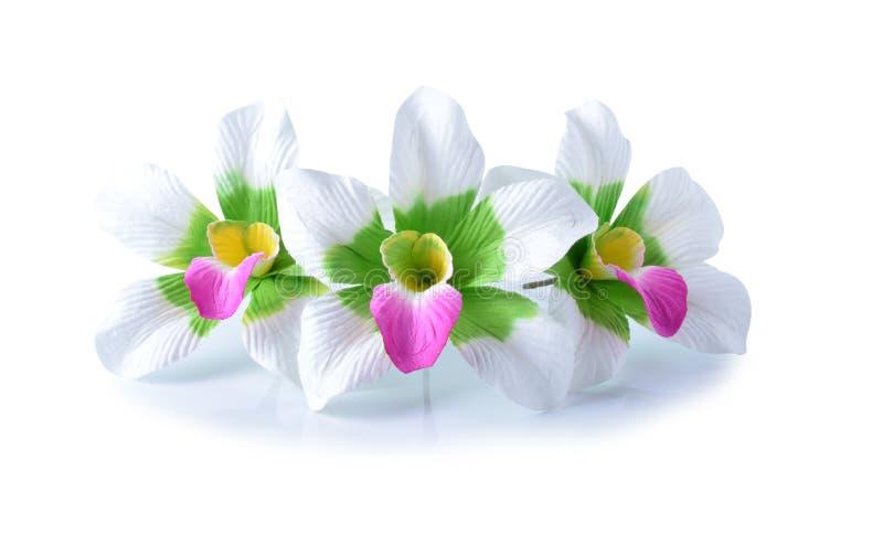 Flores artificiales del hibisco imagenes de archivo