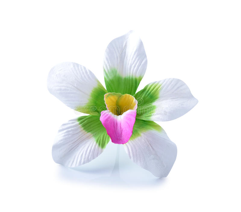 Flores artificiales del hibisco imágenes de archivo libres de regalías
