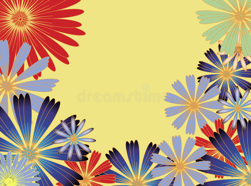 Flores asoleadas libre illustration