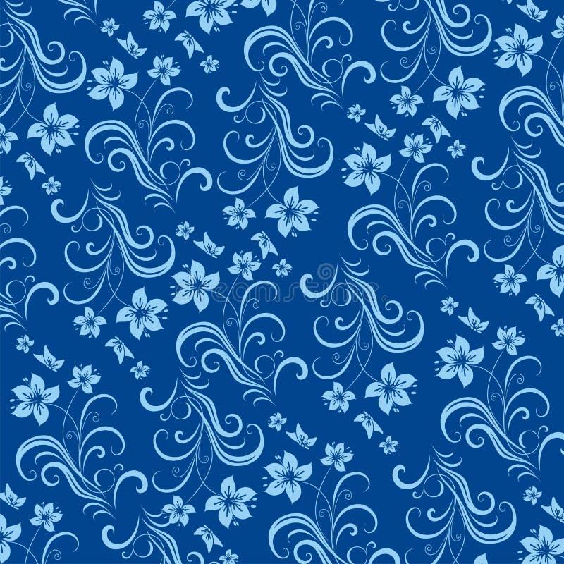 Flores azuis. ilustração do vetor