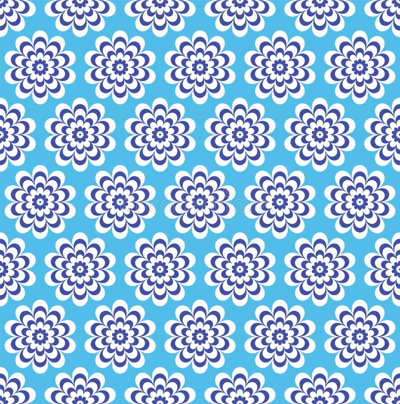 Flores azuis com um fundo modelado bonito das pétalas ilustração royalty free