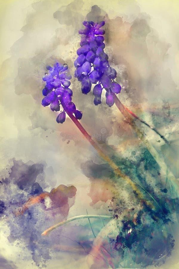 flores azules salvajes salpicadas del fondo imágenes de archivo libres de regalías