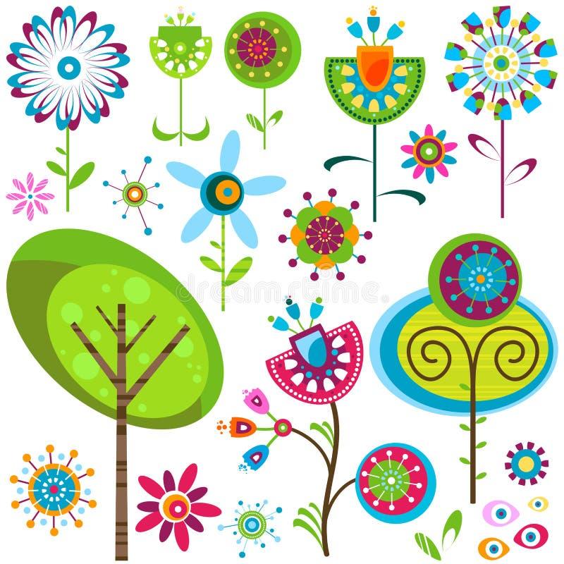 Flores banales stock de ilustración