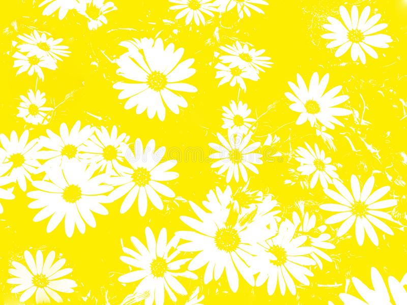 Flores blancas como fondo ilustración del vector