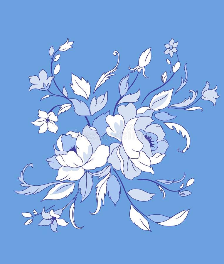 Flores bonitas ilustração royalty free