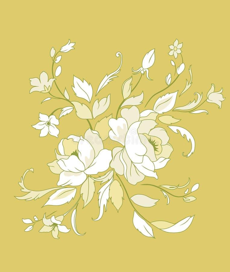Flores bonitas ilustração stock