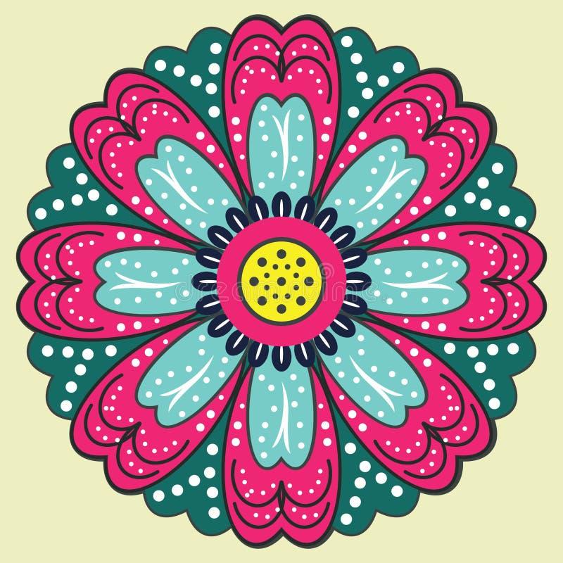 Flores bonitos ilustração royalty free