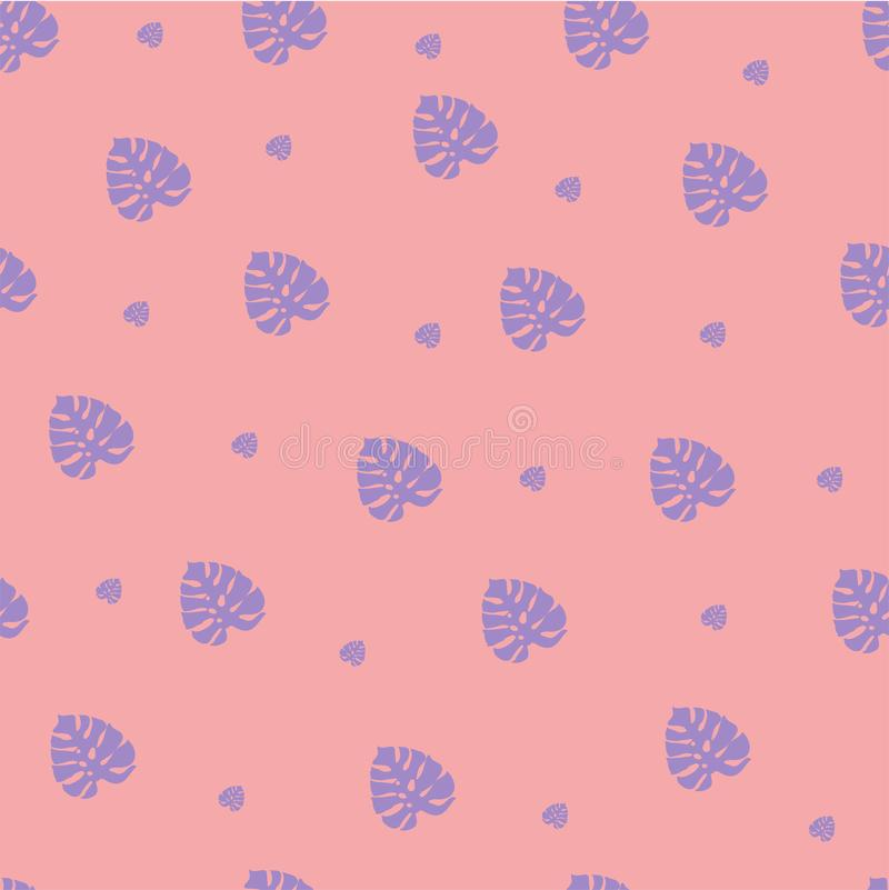 Flores bonitos isoladas da palmeira em um fundo cor-de-rosa ilustração stock