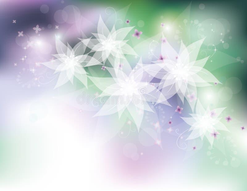 Flores brancas ilustração do vetor