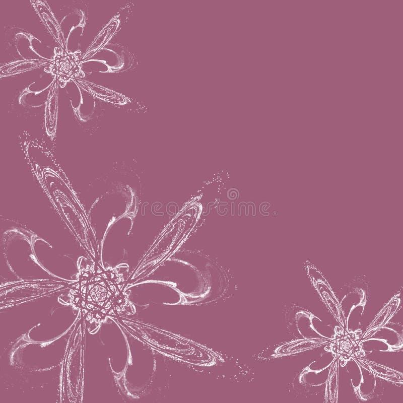 Flores brancas no fundo do lilac ilustração royalty free