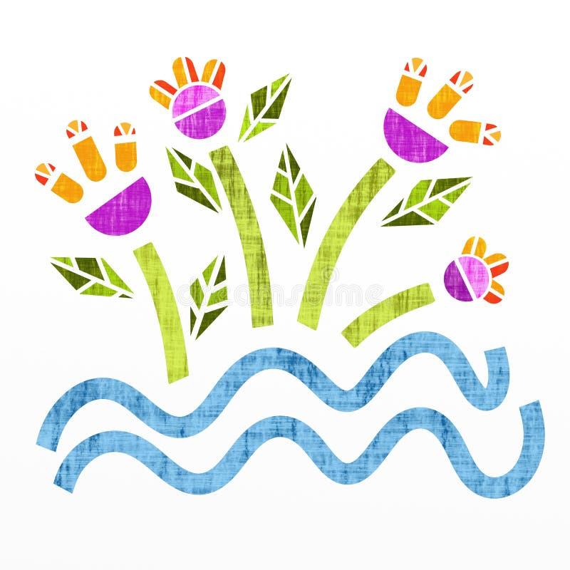 Flores coloridas ilustração do vetor