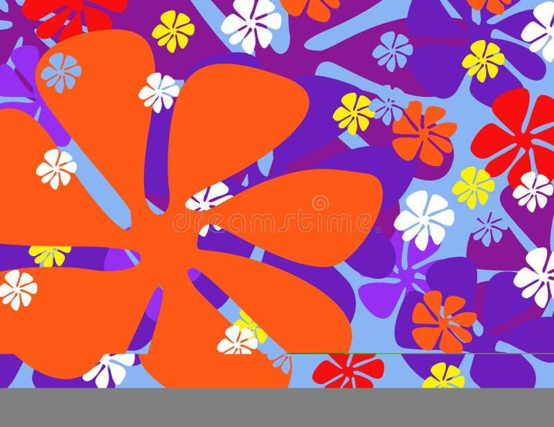 Flores coloridas da mola ilustração do vetor
