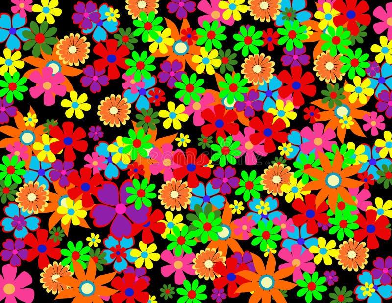 Flores coloridas da mola ilustração royalty free