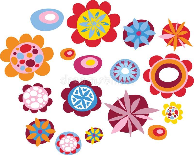 Flores coloridas del verano libre illustration