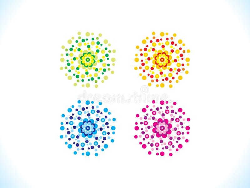 Flores coloridas múltiplas criativas abstratas ilustração royalty free
