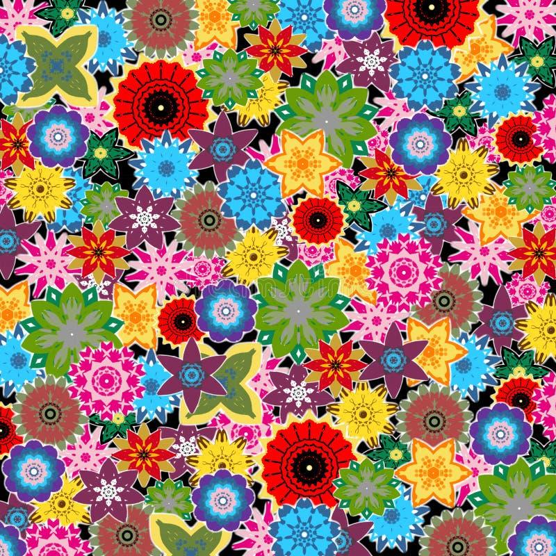 Flores coloridas, projetos florais da mola ilustração stock