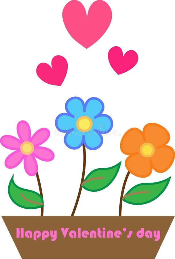Flores com amor ilustração royalty free