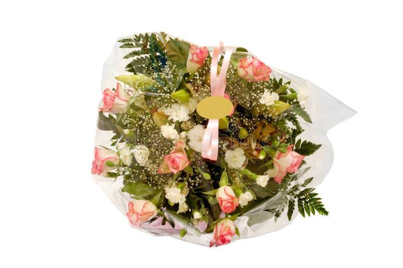 Flores com lable em branco imagem de stock