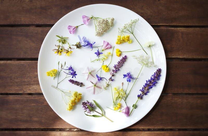 Flores comestibles foto de archivo libre de regalías