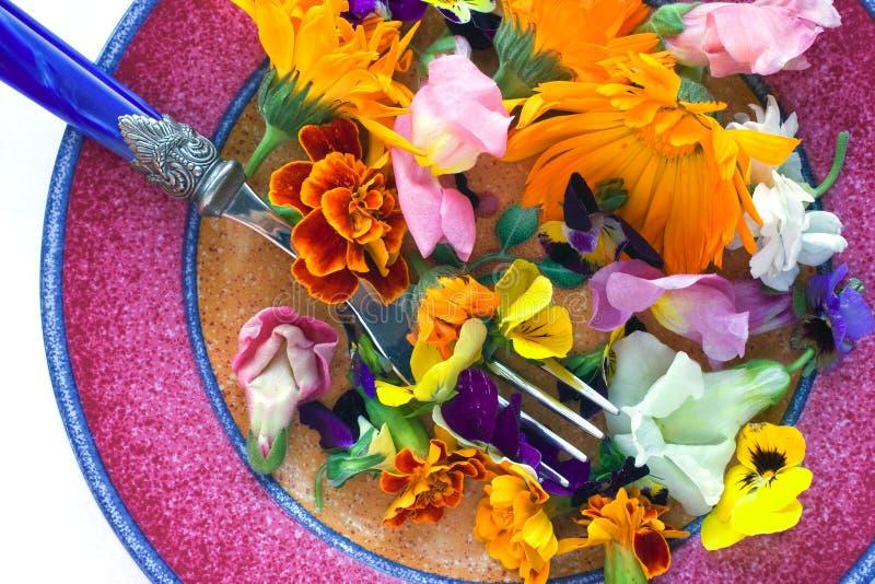 Flores comestibles imágenes de archivo libres de regalías