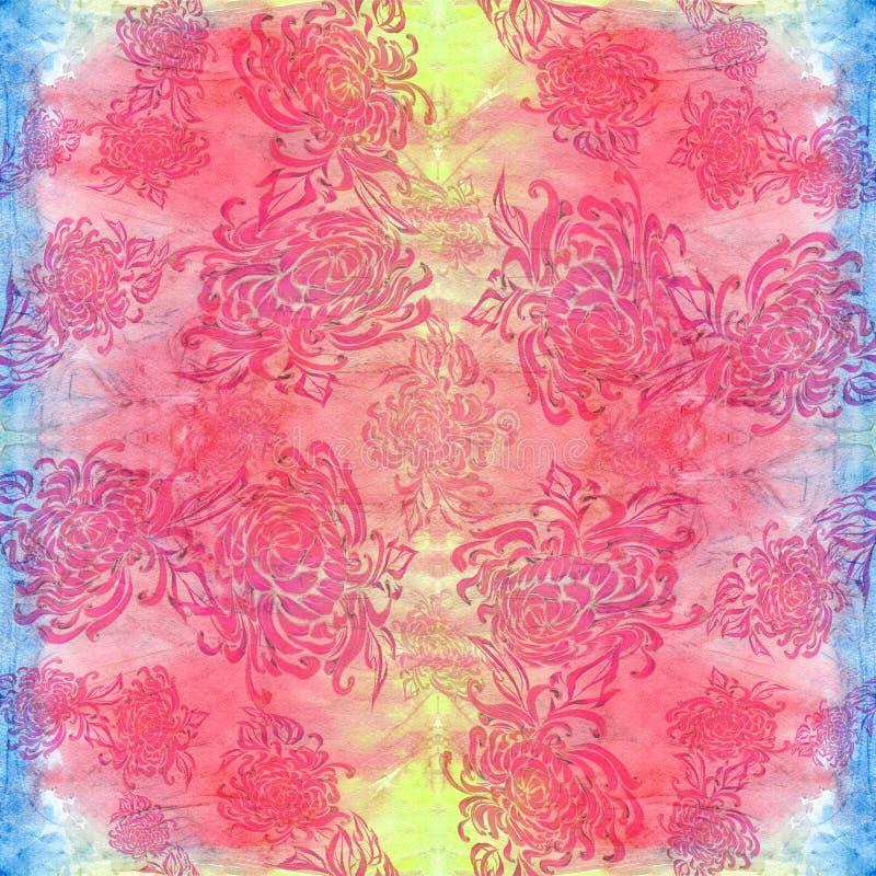 Flores - composición decorativa watercolor Modelo inconsútil Utilice los materiales impresos, muestras, artículos, sitios web, ma stock de ilustración