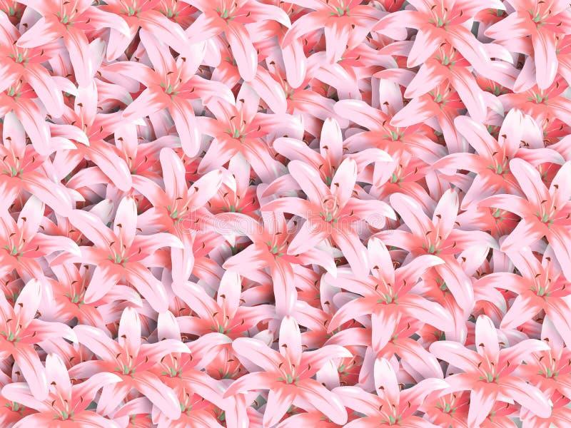 Flores cor-de-rosa brilhantes ilustração do vetor