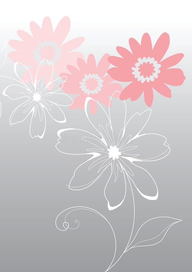 Flores cor-de-rosa do vetor ilustração royalty free