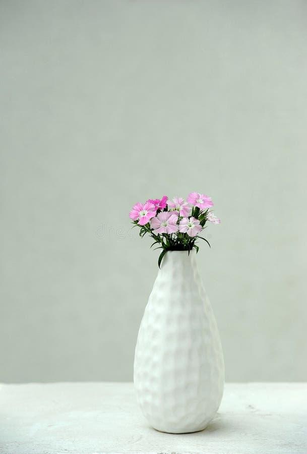 Flores cor-de-rosa em um vaso foto de stock royalty free