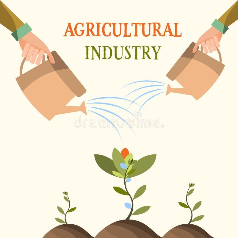 Flores crecientes, agricultura, cultivando, jardín Ilustración del vector libre illustration