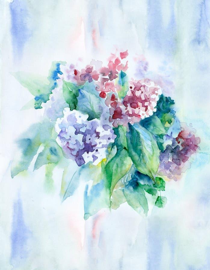Flores da aguarela ilustração stock