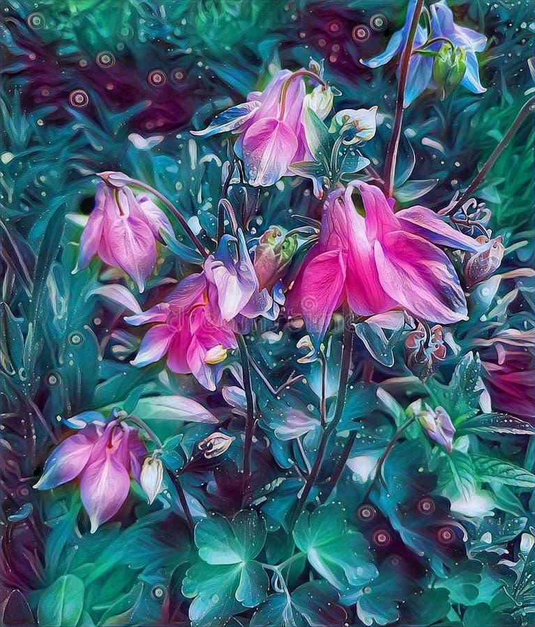 Flores da capta??o na primavera em uma cama no jardim foto de stock