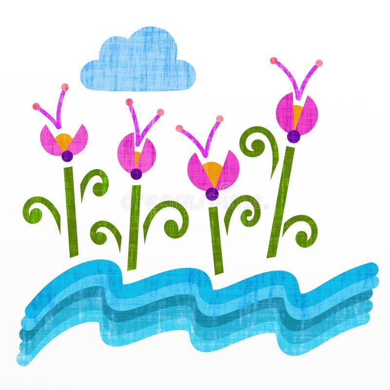 Flores da fantasia ilustração stock