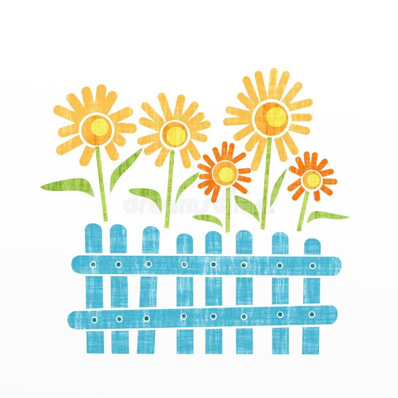 Flores da fantasia ilustração do vetor