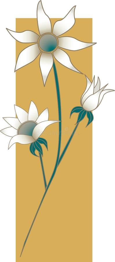 Flores da flanela ilustração royalty free