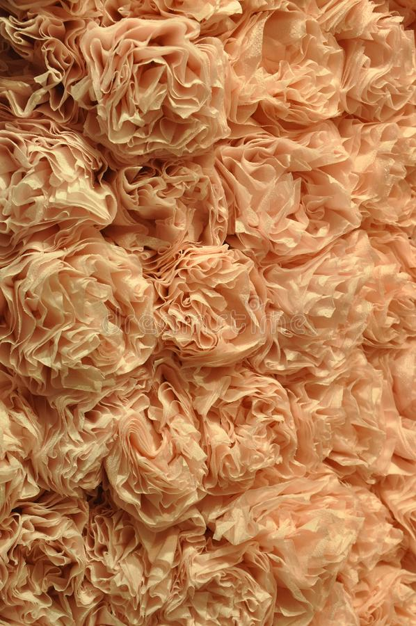 Flores da flor dobradas do papel do rosé fotografia de stock royalty free
