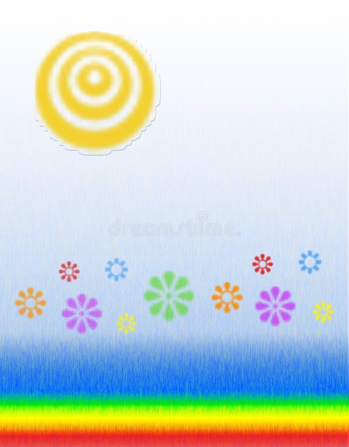 Flores da luz do sol ilustração stock