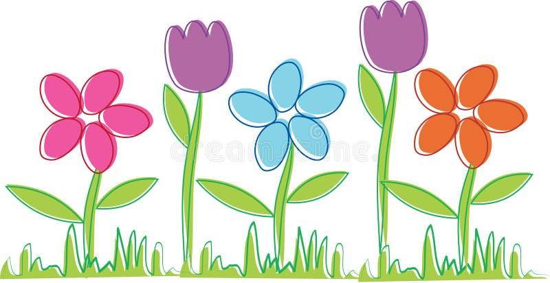 Flores da mola ilustração stock