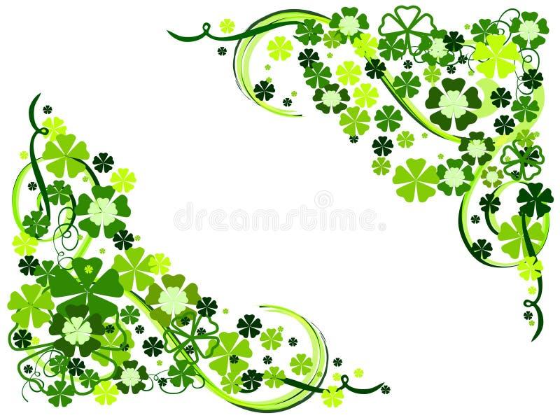 Flores da mola no verde ilustração do vetor