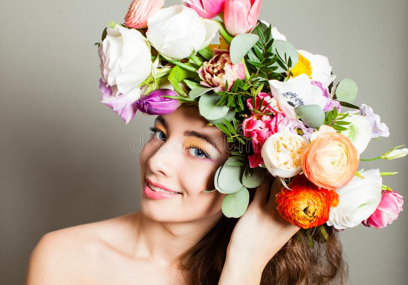 Flores da mola, penteado de florescência da natureza e para compor imagem de stock royalty free
