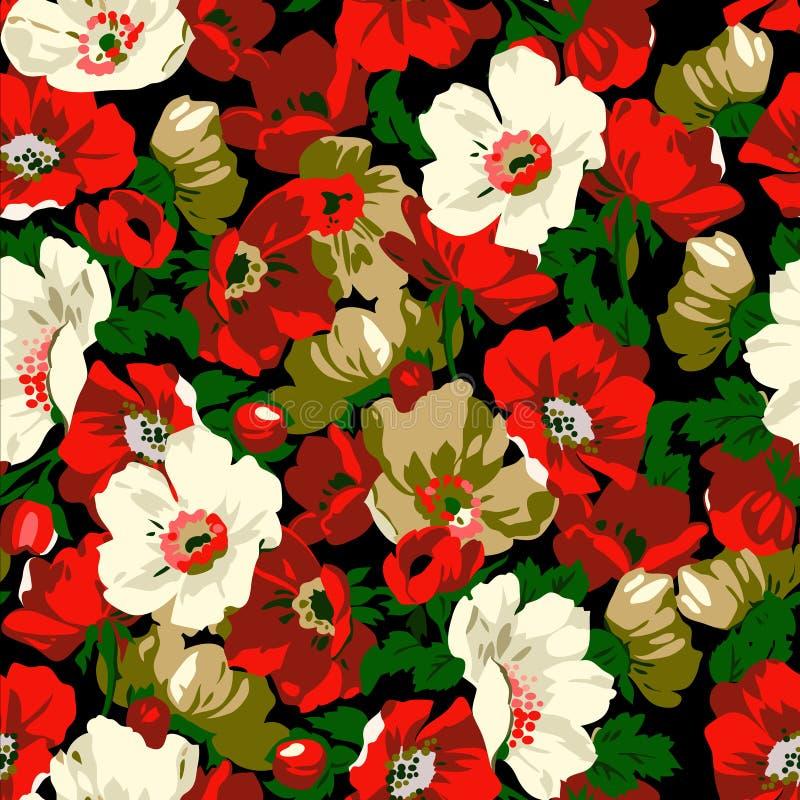 Flores da papoila ilustração royalty free