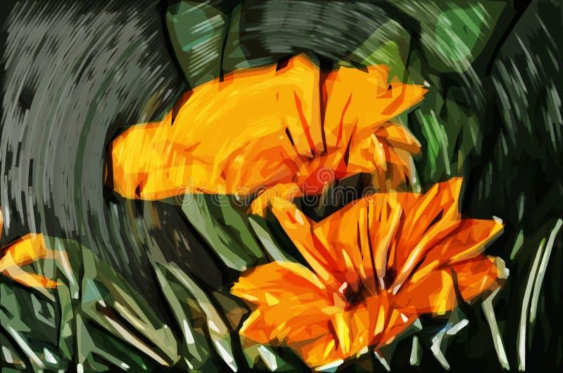 Flores da pintura do impressionismo imagem de stock royalty free
