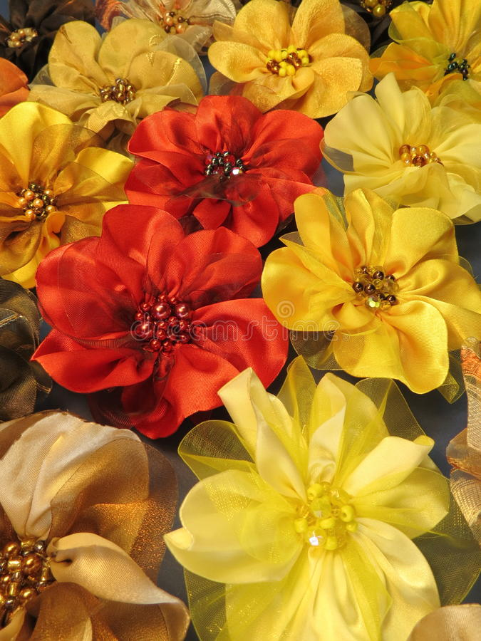 Flores da tela de Colorfu imagem de stock royalty free