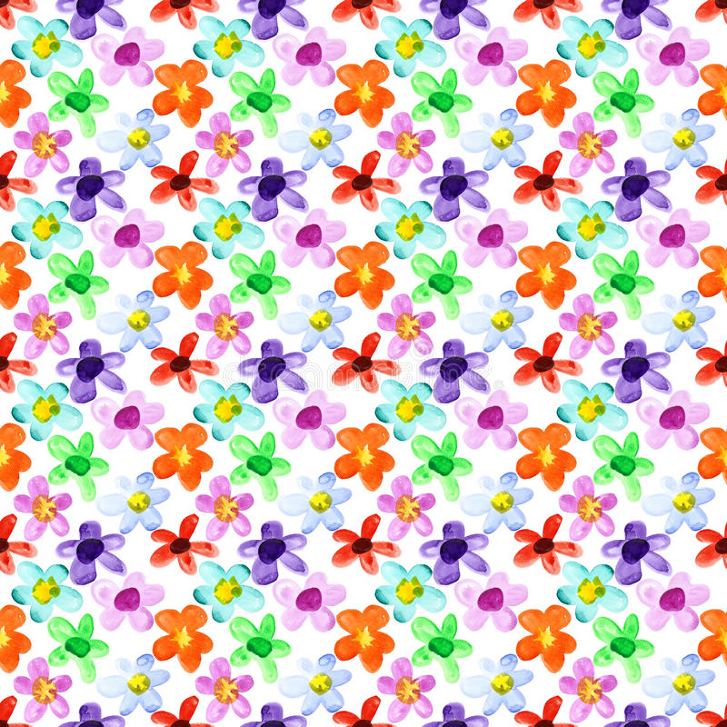 Flores das cores diferentes sem emenda ilustração royalty free