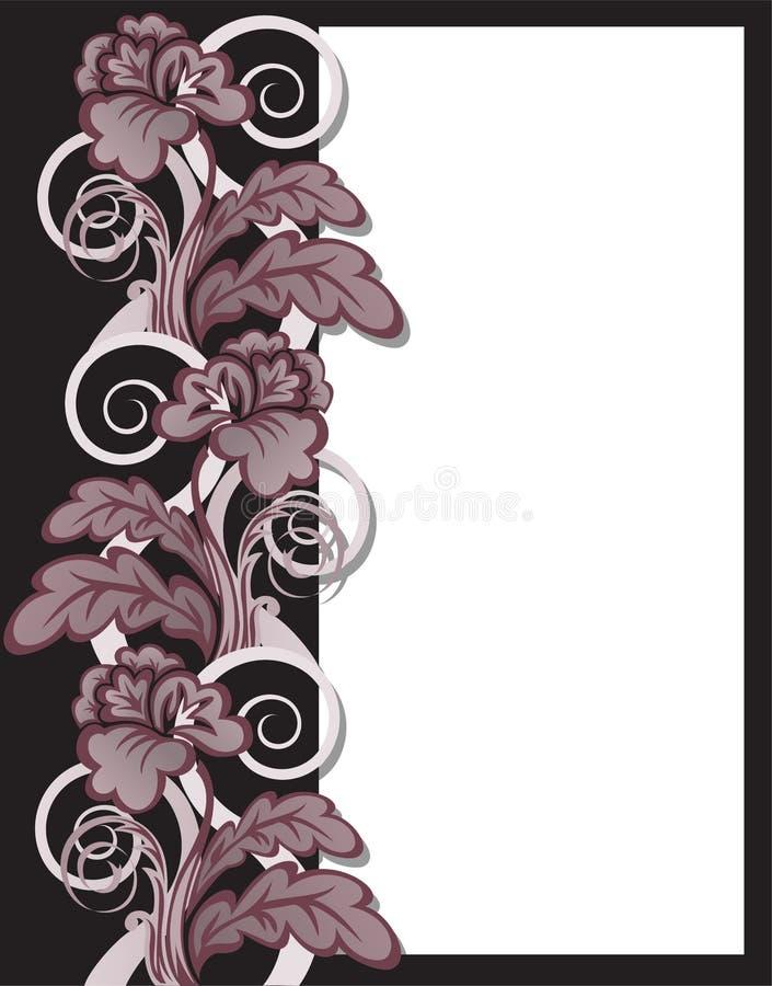 Flores de Brown no frame ilustração royalty free