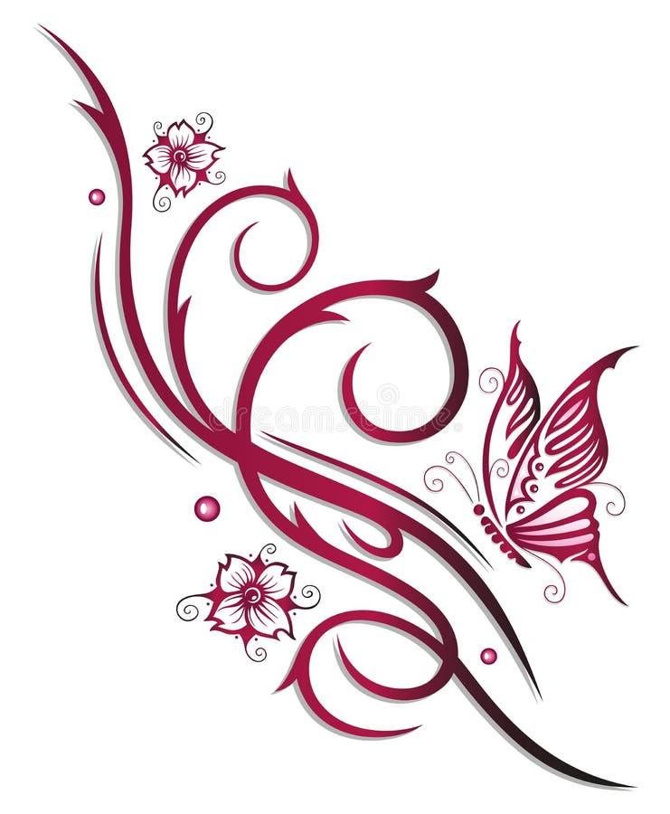 Flores de cerejeira, flores ilustração stock