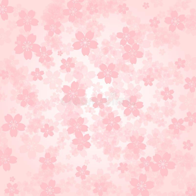 Flores de cerezo del rosa del fondo del pétalo ilustración del vector