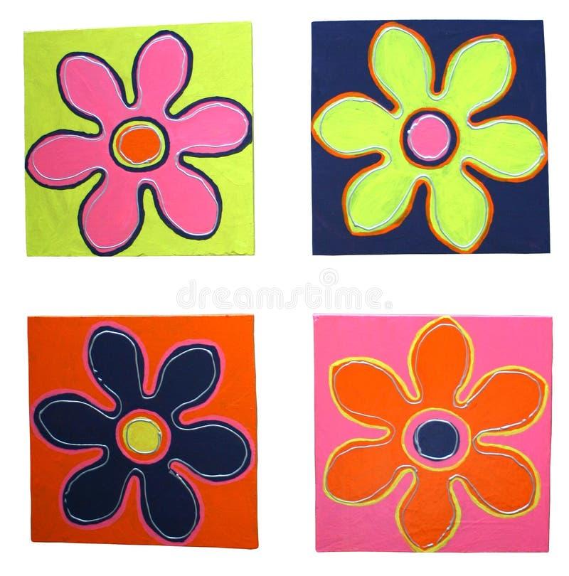 Download Flores de Cheerfull stock de ilustración. Ilustración de lona - 184249