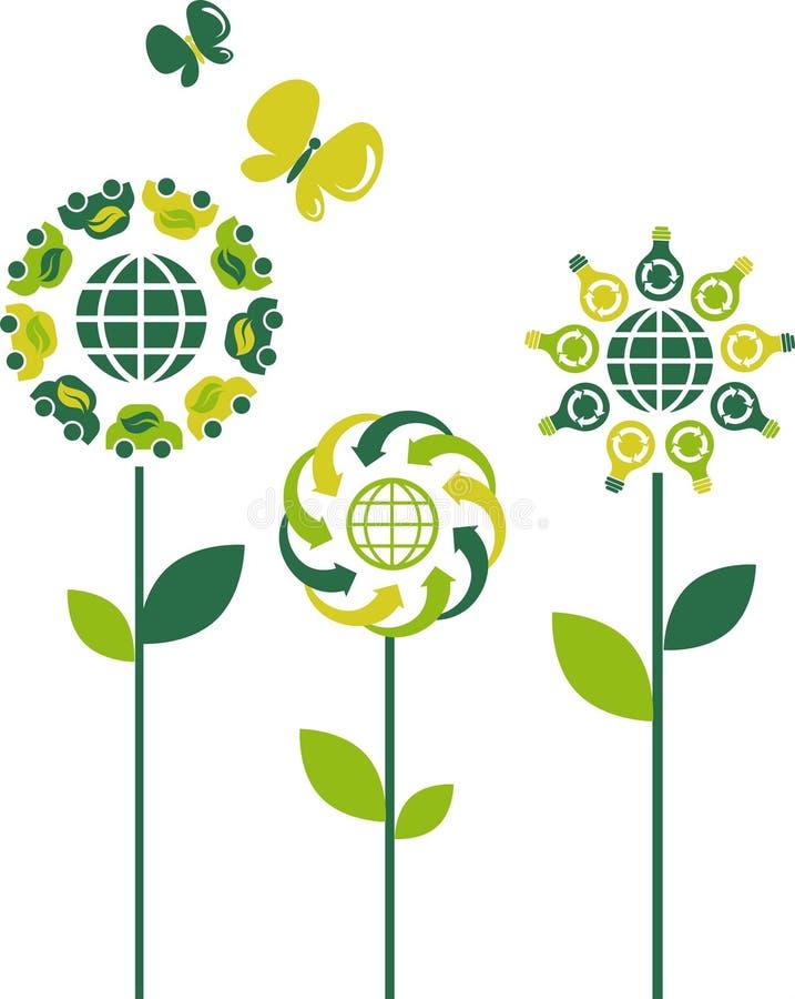 Flores de Eco - 3 libre illustration