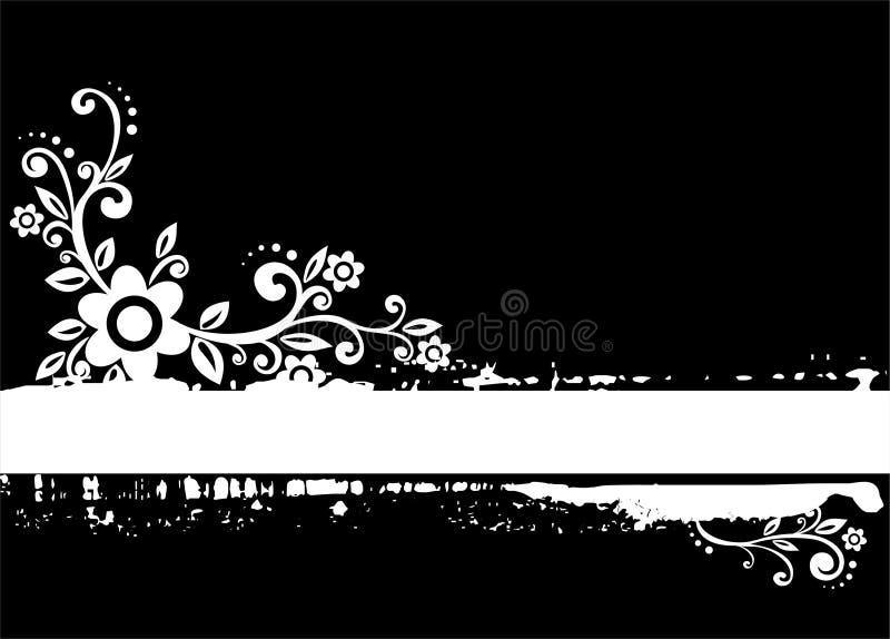 Flores de Grunge ilustração royalty free