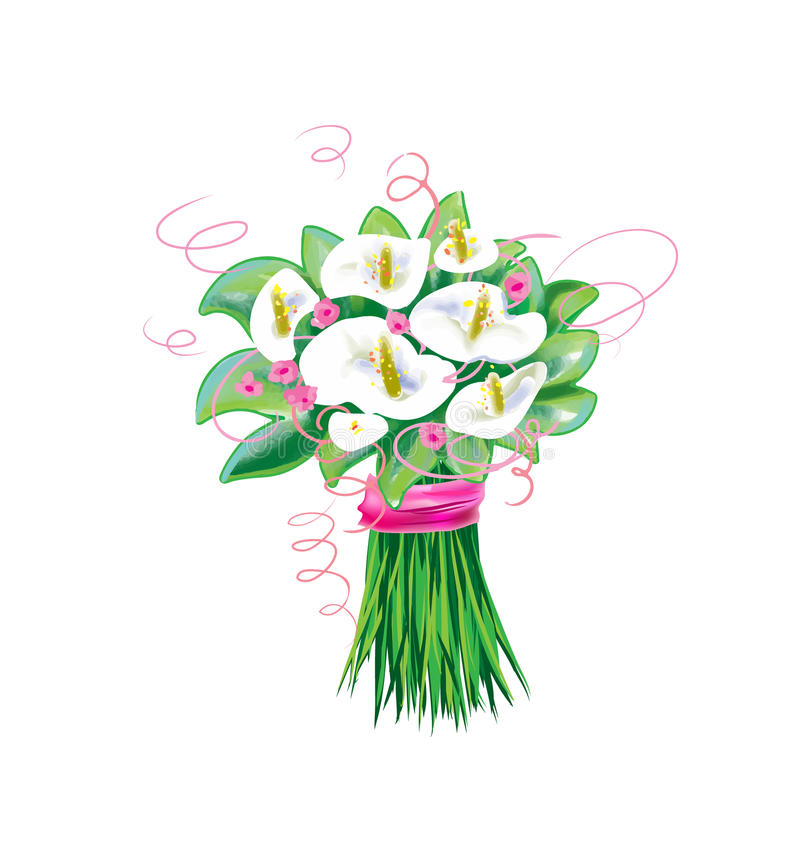 Flores de la cala, boda nupcial del ramo libre illustration